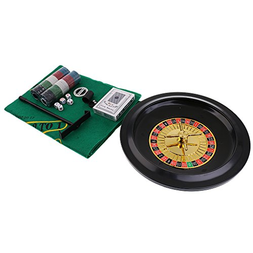 baoblazeシミュレーション5in 1RouletteメタルボックスPoker Chipsおもちゃパーティーカジノボードゲーム用アクセサリー