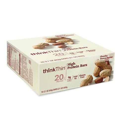 Pnut Butter - Think Thin Pnut Bttr Chk Size 10ct Think Thin Peanut Butter Chunk Caddy 10ct