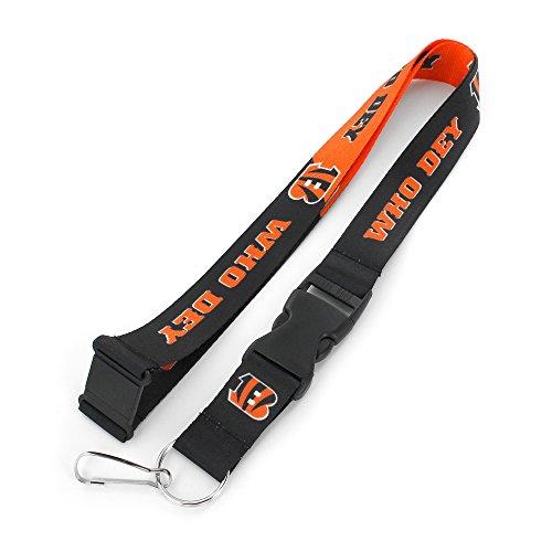 Bengals Key (NFL Cincinnati Bengals Slogan Lanyard Fan Keychain, Orange)