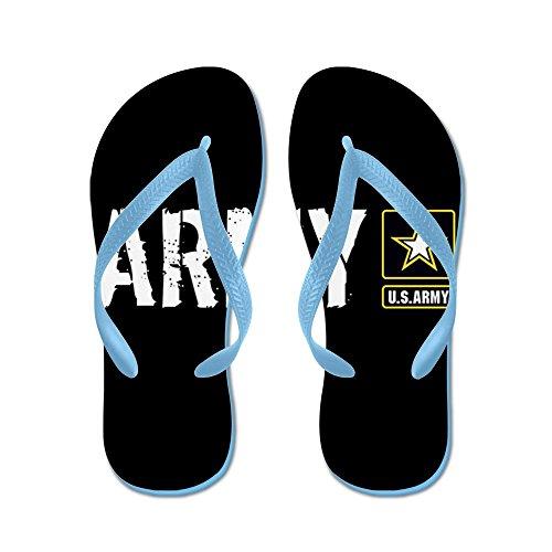 Cafepress Oss Armé: Armé (svart) - Flip Flops, Roliga Rem Sandaler, Strand Sandaler Caribbean Blue
