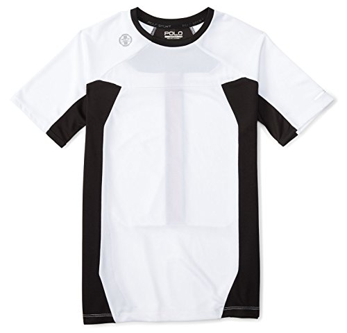 Polo Ralph Lauren Boys' 8-20 Pieced Performance Active Tee T-Shirt (L(14-16), Pure White)