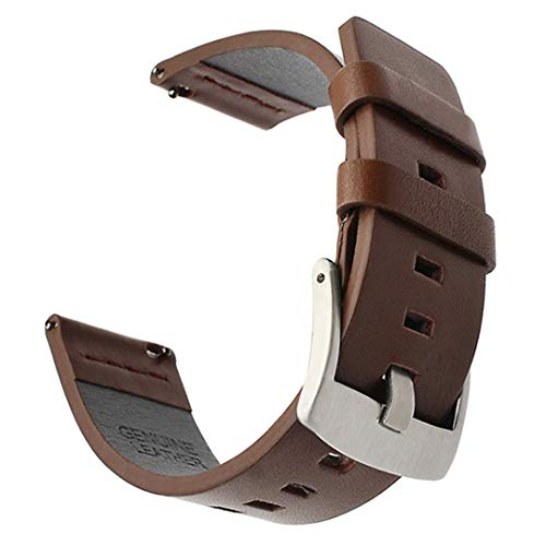 (Italy Oil Leather Watchband +Tool For Diesel Fossil Timex Armani CK DW Quick Release Watch Band Wrist Strap 18Mm 20Mm 22Mm 24Mm Brown S 18mm)