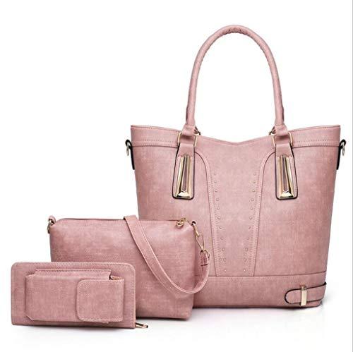 Mode en Main pièces Sac 3 Sac à PU à Cuir à bandoulière Main Femme Women's Bleu Pink Sac Portefeuille dHEqwpp