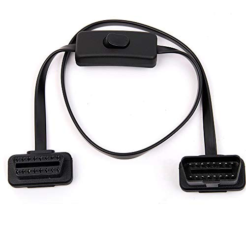 Buy Bargain Fotag OBD2 Cord 16 pin M/F Male to Female OBDII Extension Cable Right Angle Diagnostic F...
