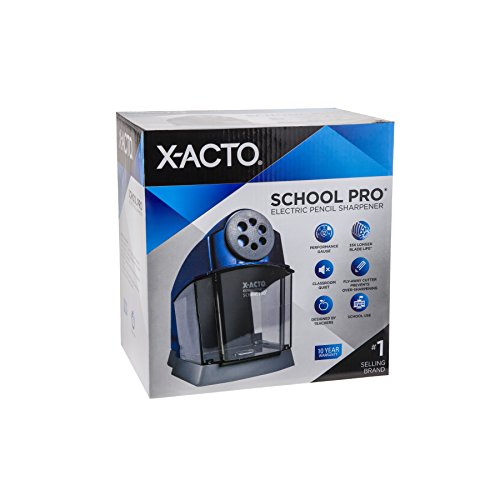 X-ACTO School Pro Classroom Electric Pencil Sharpener, Blue, 1 Count