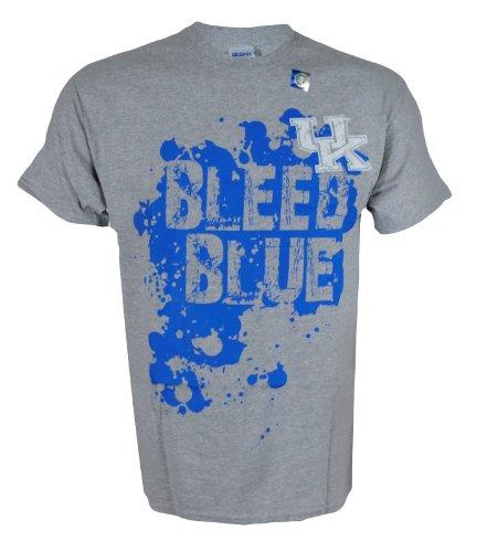 NCAA Champions University of Kentucky Wildcats UK Basketball : UK Bleed Blue T-Shirt On Short Sleeve Grey