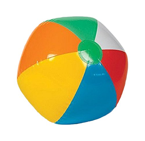 "Rhode Island Novelty Inflatable 12"" Rainbow Color Beach Balls (12 Pack) - Colors Varied"