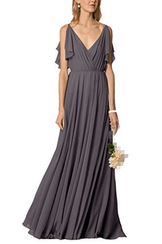 Damen Linie Grau A Fanciest Kleid 6xw8dH8f