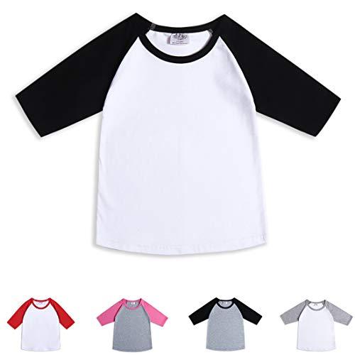 Infant Tee Toddler - Cloudcreator 3/4 Sleeve Toddler Shirts Basaball Tee
