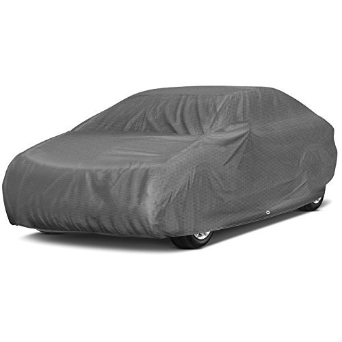 OxGord Signature Car Cover - 100 Water-Proof 5 Layers - True Mastepiece - Ready-Fit Semi Glove Fit - Fits up to 204 ()