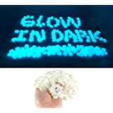 200 PCS Glow In The Dark Pebbles Stones For Aquarium Gravel Fish Tank And Outdoor Walkways Garden Driveway, Powered By Light And Solar (Weight about 1 LB ) Pack (White)