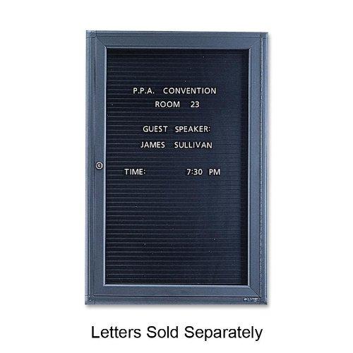 Quartet 2963LM Enclosed Magnetic Message Board,1 Door, 2-Ft x3-Ft, BK Interior