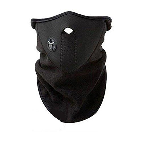 Keentix Unisex Thermal Fleece Face Mask Balaclavas Snowboard Ski Winter Cycling Scarf (Black)