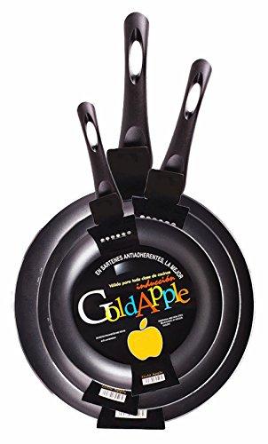 Gold Apple - Juego de sartenes con revestimiento liso antiadherente ...