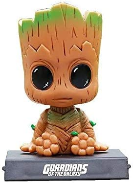 Car Dashboard Mobile Holder with Bobble Head Guardians of The Galaxy Dancing Groot Figure