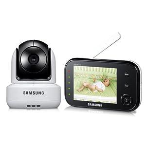 Samsung SEW-3037W SafeVIEW Baby Monitoring System IR Night Vision PTZ 3.5 Inch (Manufacturer Refurbished)