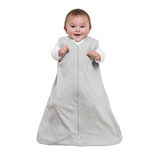 Halo Sleepsack Wearable Blanket 100% Cotton, Heather Gray, Small