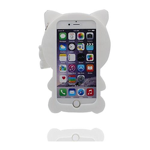 """iPhone 7 Plus (5.5"""") Coque, [ chat de matériau TPU souple élégant durable ] iPhone 7 Plus étui (5.5 pouces), poussière glissement résistant aux rayures, iPhone 7 Plus Case et stylet"""
