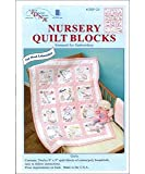 Jack Dempsey Needle Art 30021 Nursery Girls Quilt Blocks, 12 Quilt Blocks, 9-Inch-by-9-Inch, White