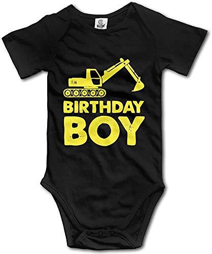 PWEIZS Geburtstagsgeschenkidee Gelber Traktor Bulldozer Neugeborenes Baby Onesies Bodys 0-3M