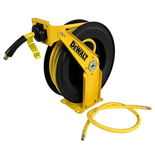 "(DeWalt DXCM024-0343 Double Arm Hose Reel with 3/8"" x 50' Premium Rubber Hose)"