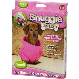 Snuggie for Dogs Pink Colored Fleece Blanket Coat with Sleeves (Small), My Pet Supplies