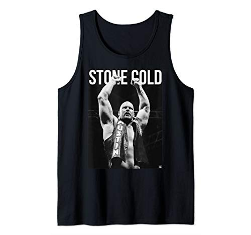 - WWE Stone Cold Austin white Text Tank Top