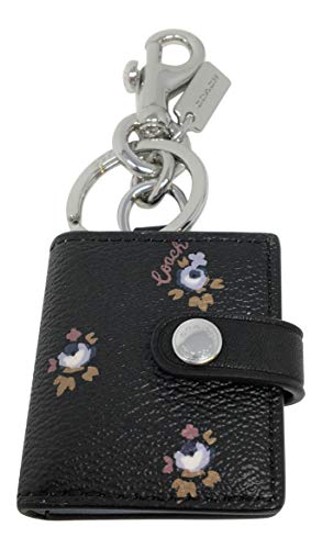 Coach PVC Picture Frame Bag Charm Key Chain in A Ditsy Floral Print F66665 ()
