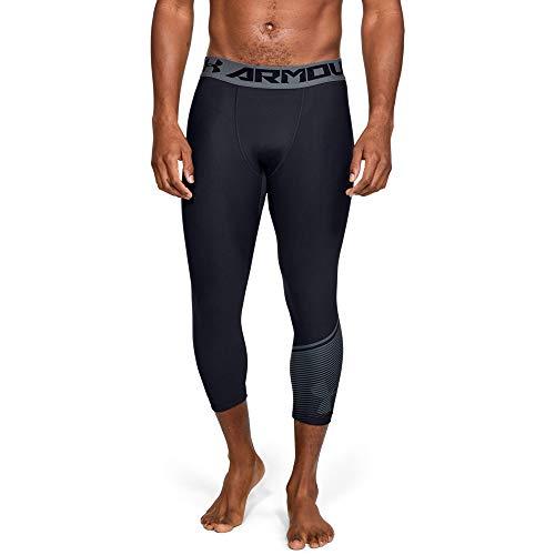 Under Armour Heatgear Armour 3/4 Leggings Novelty, Black//Pitch Gray, - Heatgear Fit Legging Compression