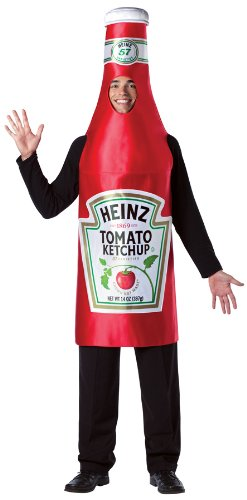 Heinz Ketchup Bottle Costume - One Size - Chest Size -
