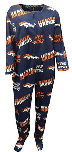 Denver Broncos Wildcard Women's Union Sleep Suit / Onesie Small (Denver Pajamas Broncos Youth)
