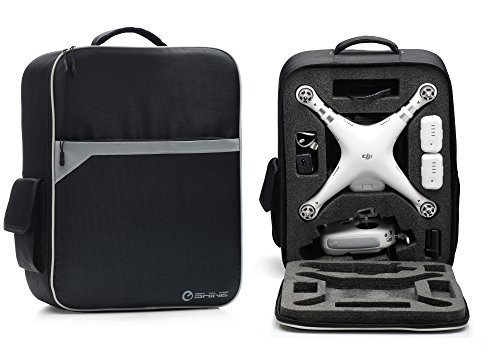EShine Backpack for Dji Phantom Drone 3 Standard, Advanced, 4K and Professional. With Comfortable Double-Padded Straps and Durable Design! (Gray Color)
