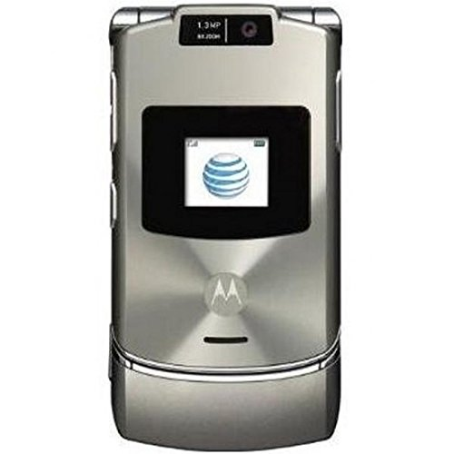 Motorola RAZR V3xx Platinum AT&T Flip Phone Ready To Activate