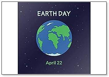 Amazon Co Jp 地球 地球の日 4月22日 イラスト冷蔵庫マグネット ホーム キッチン