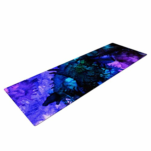 Kess InHouse Claire Day Soul Searching Yoga Exercise Mat, Purple/Blue, 72 x 24-Inch Review
