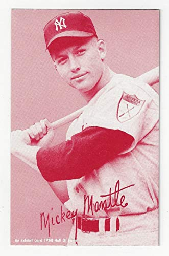 Mickey Mantle Exhibit Postcard Sized Collectible Baseball Card - 1980 Hall of Fame Collectible Baseball (New York Yankees) Free Shipping from Hall of Fame Collectible