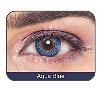 8db87983d80 Buy Affaires Yearly Disposable Color Contact Lenses Three Tone Affaires -2  Lens Pack (Aqua Blue) Online at Low Prices in India - Amazon.in