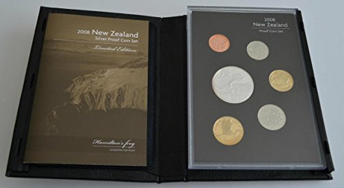NZ 2008 Annual Proof Coin Set - Hamilton's Frog Uncirculated