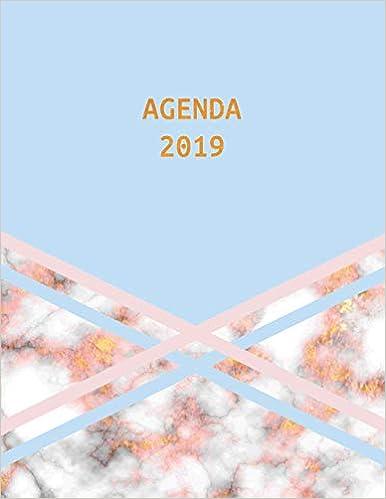 Agenda 2019: Trendy & Hippe Planner | Goud Marmer met Blauw ...