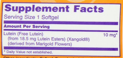 NOW Lutein 10 mg120 Softgels Discount
