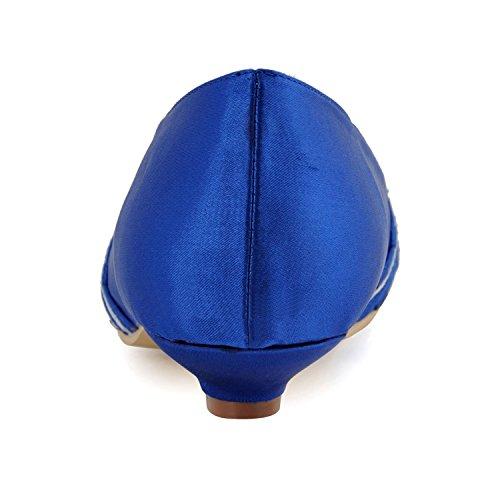 Kevin Fashion - Zapatos de boda fashion mujer, color Azul, talla 43 EU