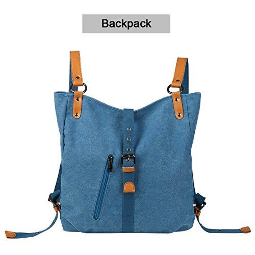 Shoulder Body Backpack Vbiger Canvas Denim Cross Women Blue Bag Bag gwxnHqCB