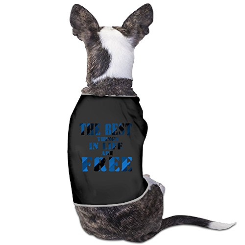 Custom Pet Custumes The Best Things In Life Are Free For Dog Cats 100% (Best Custumes)