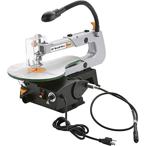 Grizzly G0735 16-Inch Scroll Saw with Flexible Shaft Grinder