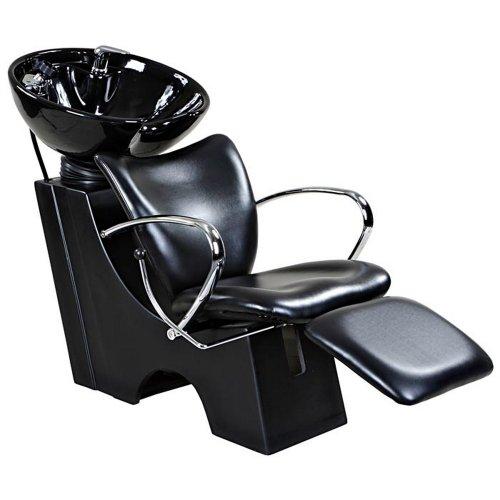 Monroe black beauty salon backwash chair sink bowl for Chair keeps sinking