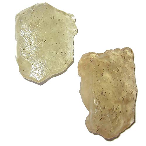 - SatinCrystals Meteorite Libyan Desert Glass Collectible Pair of Wish Upon a Star Dreamer Gemstones in Suspension Display Box C51 (Time Travelers 1.4