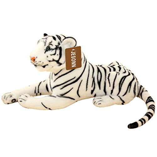 Price comparison product image Jesonn Stuffed Tiger Plush Toy, 13.5-Inch, White