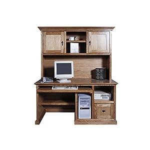 "Forest Designs Mission Computer Desk & Hutch, 60"" W, Medium Oak"