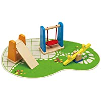 Hape E3461  Wooden Doll House Furniture Playground Set and Accessories Doll House Accessories,