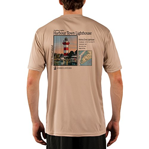 Altered Latitudes Guiding Lights Harbour Town Light Men's UPF 50+ Short Sleeve T-Shirt X-Small - Harbour Shops Town